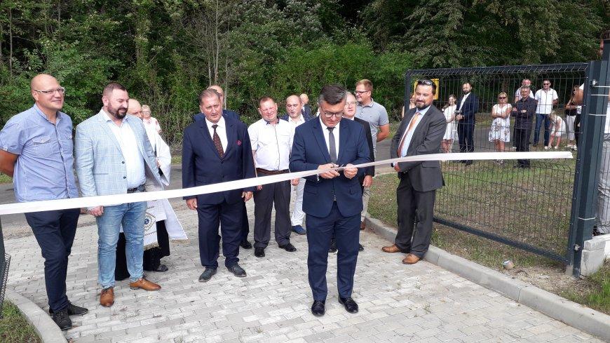 """Otwarcie inwestycji """"Budowa sieci kanalizacji sanitarnej oraz lokalnej oczyszczalni ścieków w miejscowości Mycielin"""""""